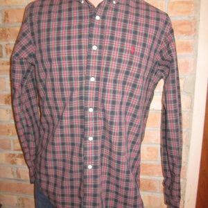RALPH LAUREN POLO CLASSIC FIT PLAID SHIRT MENS M